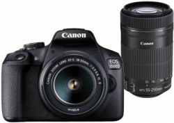 ( Pay via SBI CARD ) Canon EOS 1500D DSLR Camera Body Dual kit with EF-S 18-55 IS II + 55-250 IS II lens (16 GB Memory Card & Carry Case )