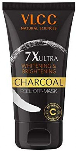 VLCC 7X Ultra Whitening and Brightening Charcoal Peel Off Mask, 100g Rs.208@ Amazon