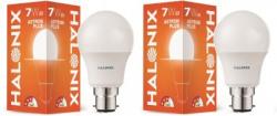 Halonix 7 W Round B22 LED Bulb(White, Pack of 2)
