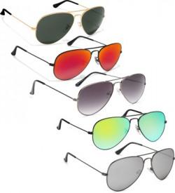 David Martin Aviator Sunglasses(Red, Green, Silver, Grey)