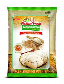 Nature Fresh Sampoorna Chakki Atta (Superior MP Atta), 10 kg (SPNA)