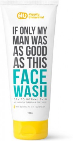 Happily Unmarried Face Wash - Dry to Normal Skin 100ml Face Wash(100 ml)