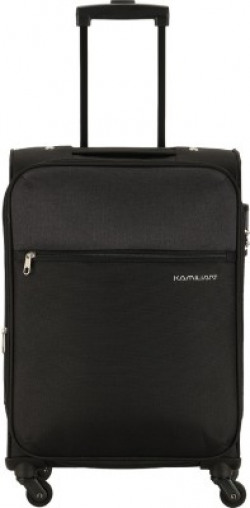 KAMILIANT BY AMERICAN TOURISTER KAM CAMEROON SP56cm-BLACK Expandable  Cabin Luggage - 20 inch(Black)