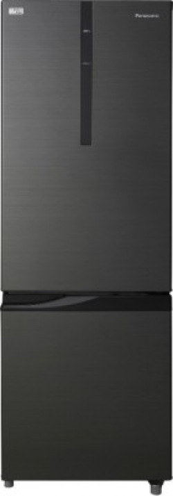 Panasonic 296 L Frost Free Double Door 2 Star (2019) Refrigerator(Black, NR-BR307RKX1)