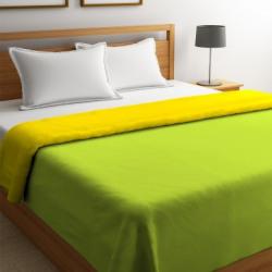 STELLAR HOME Solid Queen Comforter(Polyester, Green Glow)