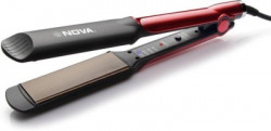 Nova Temperature Control Professional NHS 870 Hair Straightener(Black/Red)