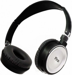 PTron Trips On Ear Bluetooth Headset(Silver, Wireless over the head)