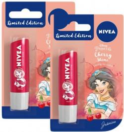 NIVEA Lip Balm, Disney Limited Edition Cherry Shine, 4.8g (Pack of 2) Cherry(Pack of: 2, 9.6 g)
