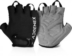 Adrenex by Flipkart Foam Padded Gym & Fitness Gloves(Black/Grey)