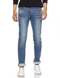 Flying Machine Men's Skinny Fit Jeans (FMJN3978_Blue Black_38W x 33L)