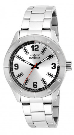 Invicta Specialty Men's Wrist Watch Stainless Steel Quartz Silver Dial - 17925