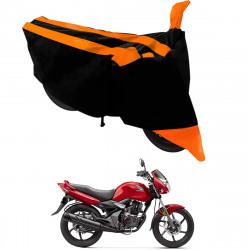 Kandid Orange Black Dust and Water Resistant Double Mirror Pocket Bike Body Cover for Honda CB Unicorn