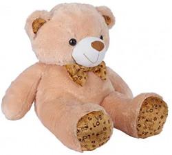 Ultra 2 Feet Fluffy Polka Teddy Bear Soft Toys, Camel Brown