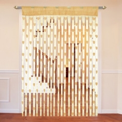 Cortina 210 cm (7 ft) Polyester Door Curtain Single Curtain(Floral, Beige)