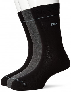 CR7, Christiano Ronaldo --  Men's Socks (Pack of 3) at Flat 75% Off for Rs.224