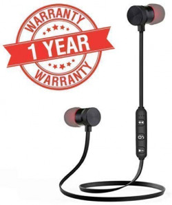 INUOAP Magnetic Sports |Bluetooth| Wireless Earphone with Immersive/Stereo Sound/and Hands Free Mic