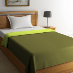 STELLAR HOME Solid Single Comforter(Polyester, Wild Lime)