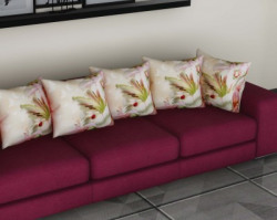 Metro Living 3D Printed Cushions & Pillows Cover(Pack of 5, 40 cm*40 cm, Multicolor)
