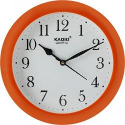 Kadio Analog 20.5 cm X 20.5 cm Wall Clock(Orange, With Glass)