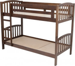 Woodness Liam Solid Wood Bunk Bed(Finish Color - Dark Brown)