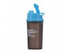 Fitkit FT1194-02 Smart Shaker Bottle with Wire Blending Ball, 600ml (Grey/Blue) Rs.