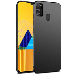 SKIN WORLD Samsung Galaxy M30S CASE and Covers (Hard CASE, Black)