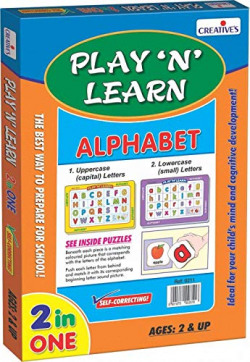 Creative's Play N Learn - Small and Capital Alphabets, Multi Color