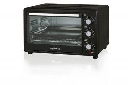 Lifelong 28L 1500-Watt Oven Toaster Griller, Black