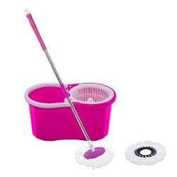 Frestol Plastic Mop +2 Refill+Rod - Pink