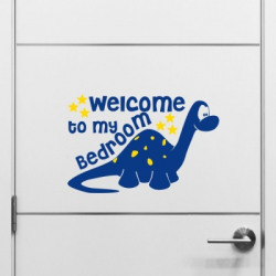 Nilaya by Asian Paints Large Wall Ons Door Dinosaur Wall Sticker  Sticker(Pack of 1)