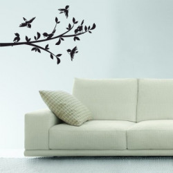 Nilaya by Asian Paints Large Wall Ons Branch with 6 Birds Wall Sticker  Sticker(Pack of 1)