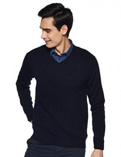 Richard Parker by Pantaloons Men's Sweater (110033333001_Navy_M)