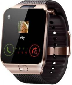 Enew DZ09-GOLD 0087 phone Smartwatch(Brown Strap Free Size)