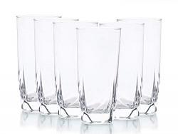 Kaiserhoff Eros Water Tumbler Glass Set, 360 ml, Set of 6, Transparent