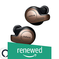 (Renewed) Jabra Elite 65t Alexa Enabled True Wireless Earbuds with Charging Case (Copper Black)