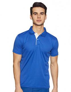 6 Degrees Men's Solid Regular fit Polo (6D-IDRYPN-9- Royal Blue S)
