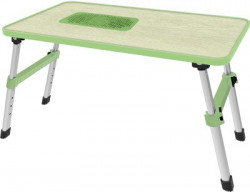 Gizga Essentials Wood Portable Laptop Table(Finish Color - Green)
