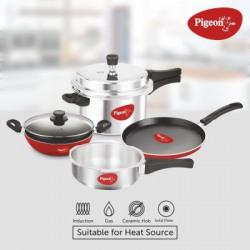 Pigeon Induction Bottom Cookware Set(Aluminium, 4 - Piece)