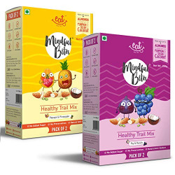 EAT Anytime Trail Mix Combo Pack, Dry Fruits, Dried Fruits, Mixed Nuts & Seeds (Papaya Pineapple & Fig, Raisin), 400 g