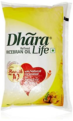 Pantry_Dhara Rice Bran Oil Pouch, 1L