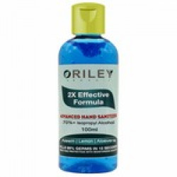 Oriley Waterless Hand Sanitizer 70% Isopropyl Alcohol Based Instant Germ Protection Sanitizing Gel Rinse-free Palm Cleaner Handrub (100ml)