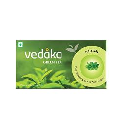 Amazon Brand - Vedaka Green Tea, Natural, 25 Bags