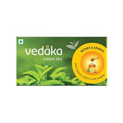 Amazon Brand Vedaka Green Tea, Lemon and Honey, 25 Bags
