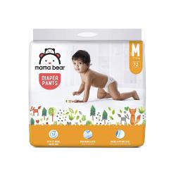 Amazon Brand - Mama Bear Baby Diaper Pants, Medium (M) - 72 Count