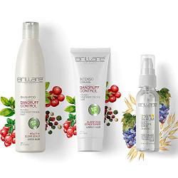 Brillare Dandruff Control Combo with Hair Serum | For Flaky Dandruff Prone Hair | Shampoo 300 ml; Conditioner 125 g; Serum 40 ml | 100% Vegan