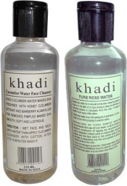 Khadi Herbal Rose & Cucumber water - Twin Pack Men(420 ml)