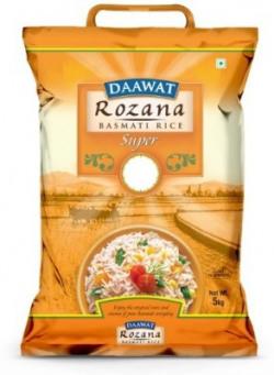 Daawat Rozana Super Basmati Rice (Medium Grain)(5 kg)