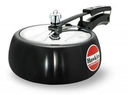Hawkins Contura Hard Anodised Aluminium Pressure Cooker, 3.5 Litres, Black