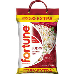 Fortune Super Basmati Rice, 5kg with 25% Extra