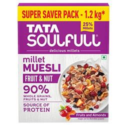 Soulfull Millet Muesli- Fruit & Nut with Almonds & Real Fruits, 1.2kg